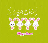 Happy easter with bunny funny — Stock Vector