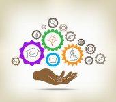 Education mechanism concept — Stock Vector