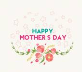 Happy mother day greeting card — Stock Vector