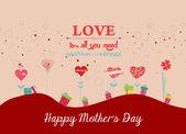 Fondo de día de las madres felices — Vector de stock
