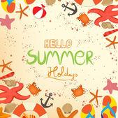 Hello summer holidays — Stock Vector