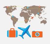 Travel tour of the world — Stock Vector