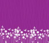 Spring flowers on purple background — Vector de stock