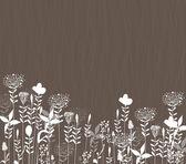 Stalks background silhouette — Διανυσματικό Αρχείο