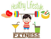Fitness healthy lifestyles — Stock Vector