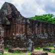 Side structure of My Son Cham tower — Stock Photo #75401497