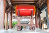 Red drum in pagoda — Stock Photo