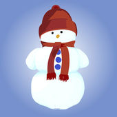 Snowman. Vector illustration. — Stock Vector