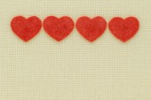 Symbols of hearts and love on a light background — Stock Photo