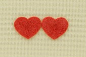 Symbols of hearts and love on a light background — 图库照片