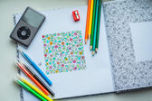 Coloring with pencil — Stock Photo
