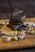 Chocolate  with pistachios — Stock Photo