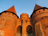 Fortification towers in Malbork — Stock Photo
