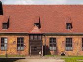 Brick barracks and guard tower — Stock Photo
