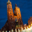 St. Mary's Church in Krakow by night — Stock Photo #52754037