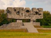 Monumento della lotta e martirio in majdanek — Foto Stock
