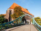 Tumski bridge in Wroclaw — Stock Photo