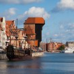 Motlawa riverside in Gdansk — Stock Photo #54151865