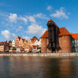 Motlawa riverside in Gdansk — Stock Photo #54235385