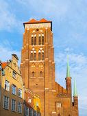 St. Marys Church in Gdansk — Stock Photo