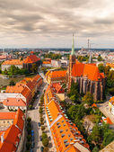 Aerial view of Wroclaw — Stock Photo