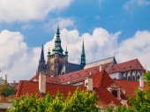 Towers of Prague Castle — Stock Photo