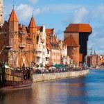 Motlawa riverside in Gdansk — Stock Photo #55142979