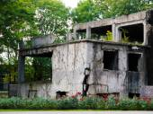 Demolished Westerplatte barracks — Stock Photo