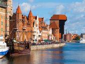 Motlawa riverside in Gdansk — Stock Photo