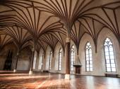 Gothich arches in castle hall — Stock Photo