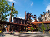 Blast furnace in metallurgical area — Stock Photo