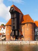 Guindaste de antigo em Gdansk — Fotografia Stock