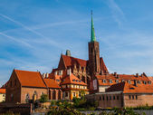 Church of the Holy Cross in Wroclaw — Stock Photo