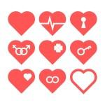 Heart Icon Set — Stock Vector #62767321