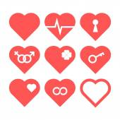 Heart Icon Set — Stock Vector