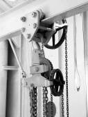 Metal pulley — Stock Photo