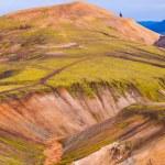 Landmannalaugar colorful rainbow mountains — Stock Photo #69452225
