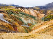 Landmannalaugar colorful rainbow mountains — Stock Photo