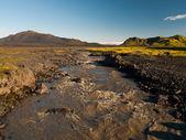 Wild icelandic river — Stock Photo