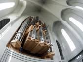Organ pipes in Hallgrimskirkja — Stock Photo