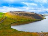 Pseudocrater at Myvatn Lake — Stock Photo