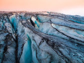 Detailed view of glacier structure — Stock Photo