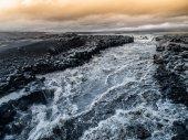 Wild rapids of icelandic river — Stock Photo