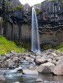 Svartifoss waterfall — Stock Photo