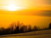 Sunset in wintertime — Stock Photo