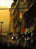 Evening mood with sunlight in the street od La Paz — Stock Photo