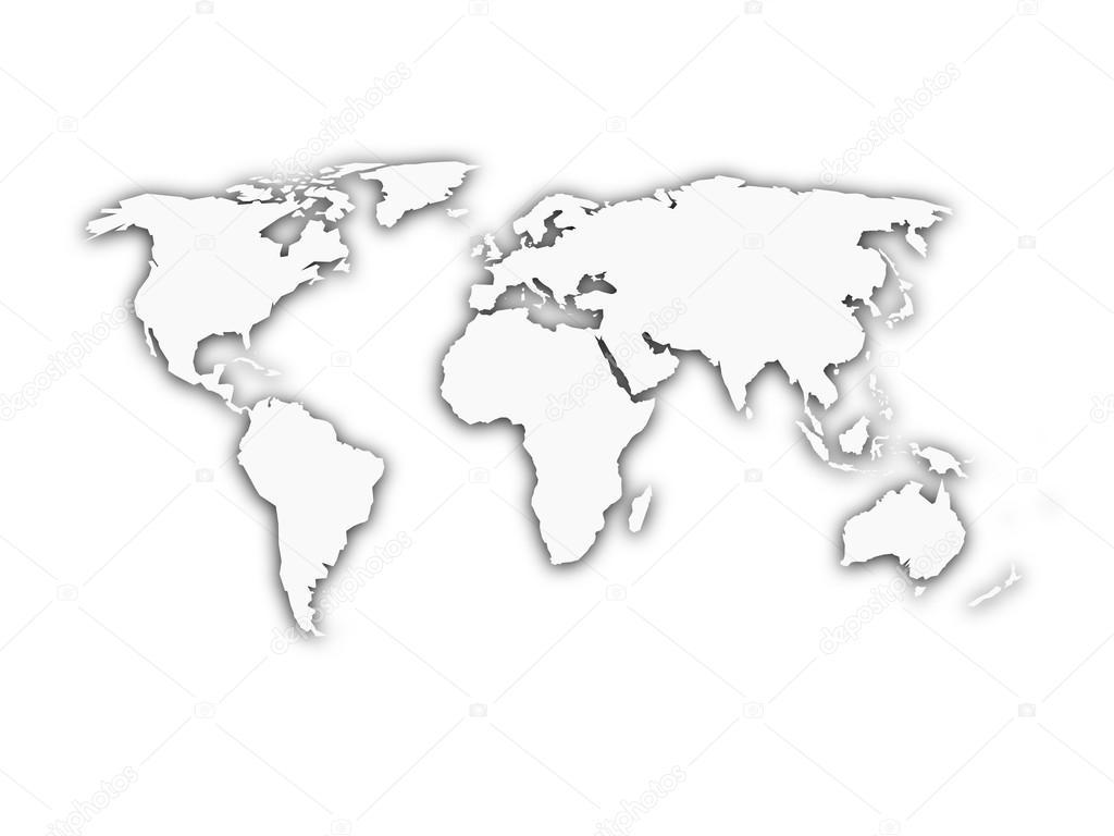 mappemonde blanc avec la silhouette de l 39 ombre image vectorielle pyty 90746276. Black Bedroom Furniture Sets. Home Design Ideas