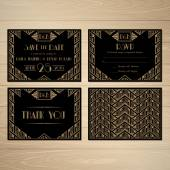 Gatsby Save the Date — Vetorial Stock