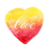 Watercolor heart for greeting card — Stock Vector