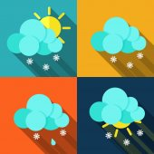 Meteorology weather icons with modern design — Stock Vector